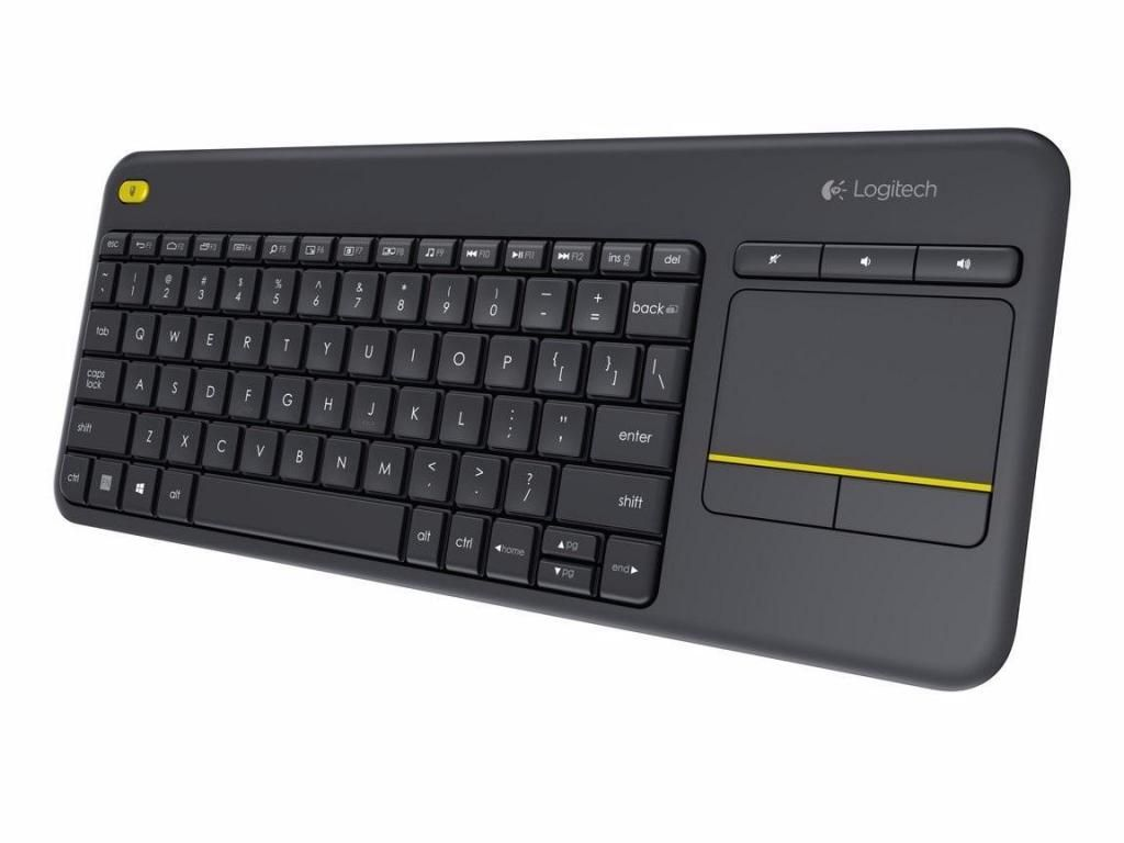 Teclado Touchpad Wireless Logitech K400 Plus TV