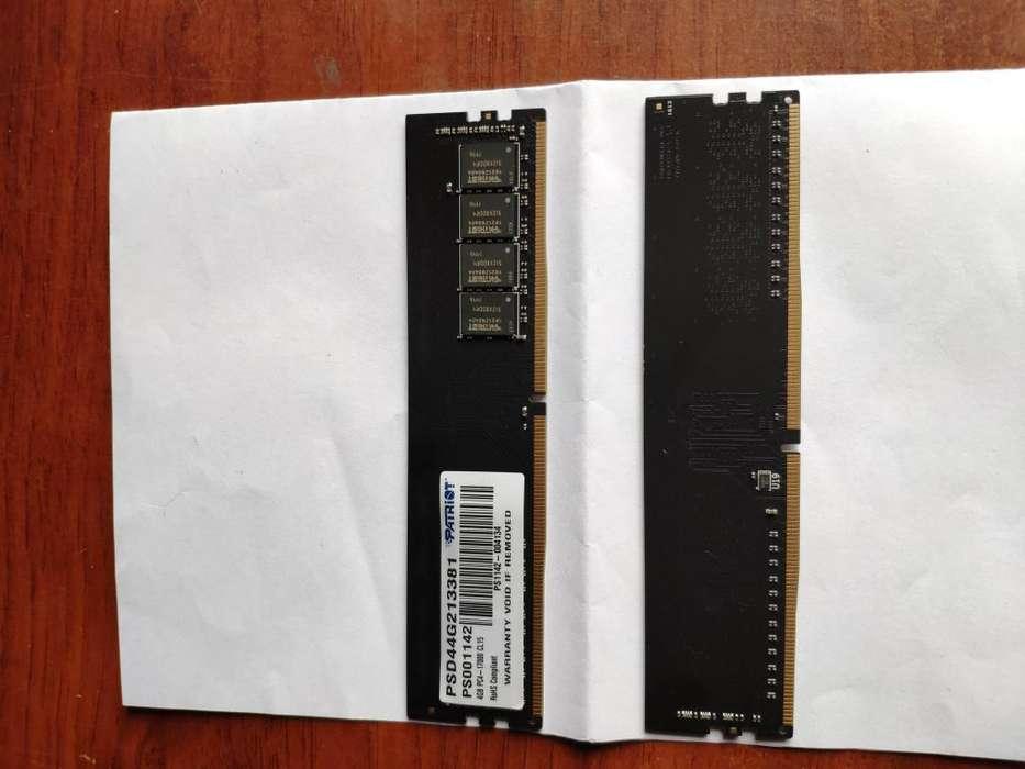 Memorias DDR4 Patriot 2x4 GB a 2133 MHZ excelente estado