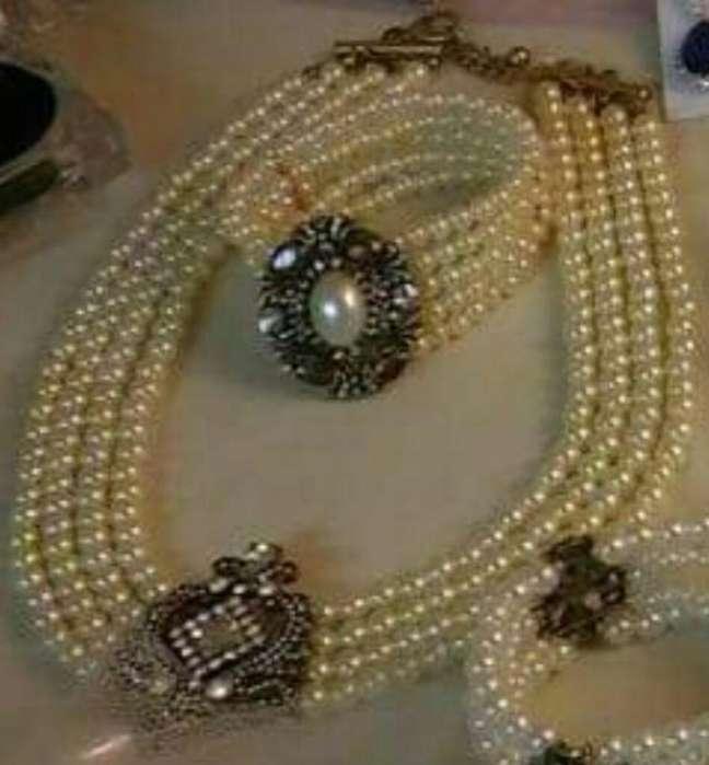Set Perlas Cristal Importadas Trabajadas