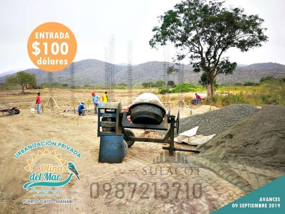 Terrenos en Venta, Playa Puerto Cayo, Urbanización Privada Olinas Del Mar, Lotes 200m2 11.000 usd Entrada 100 usd, SD1