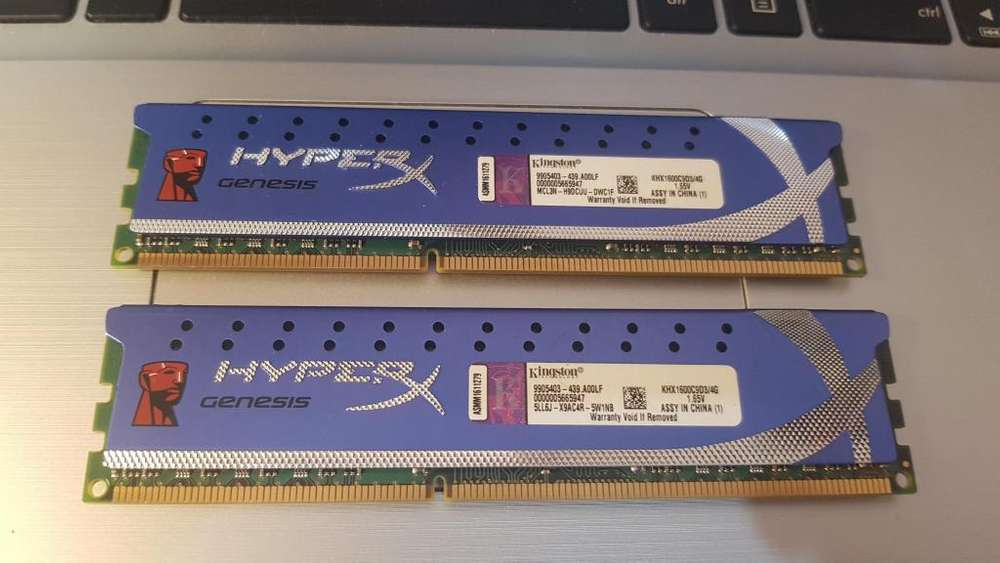Memorias Kingston DDR3 HypeX Blue 4Gb (c/u)