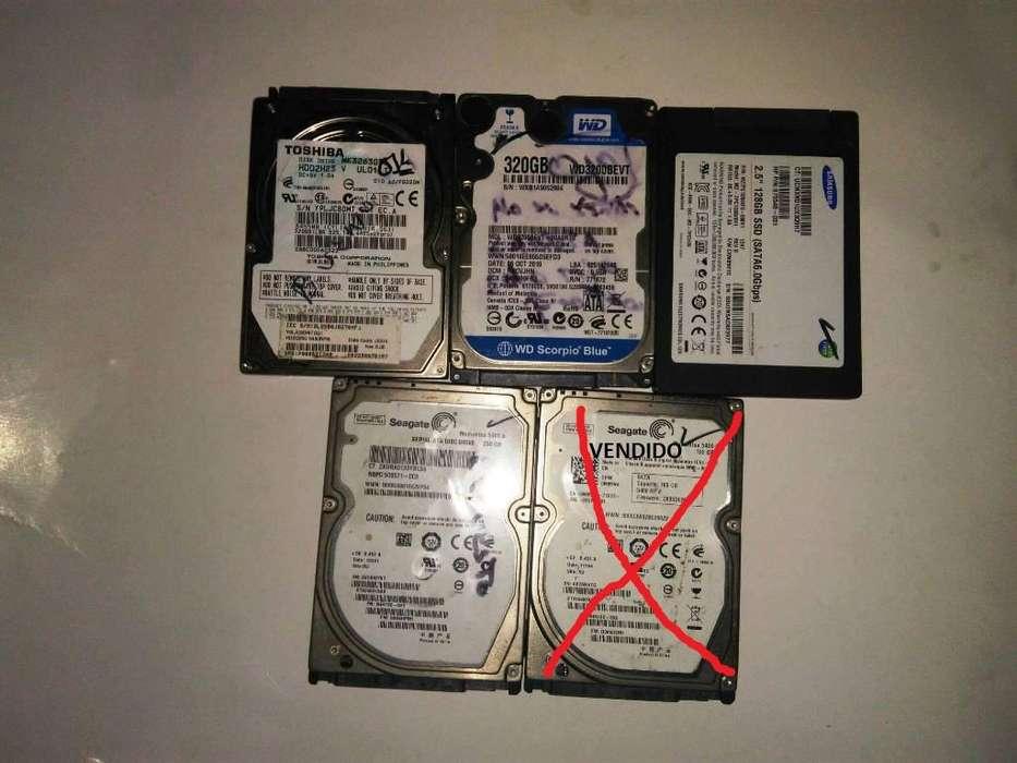 Remate Discos Duros Para Portátiles y Tarjetas RAM DDr3 4GB y 8GB