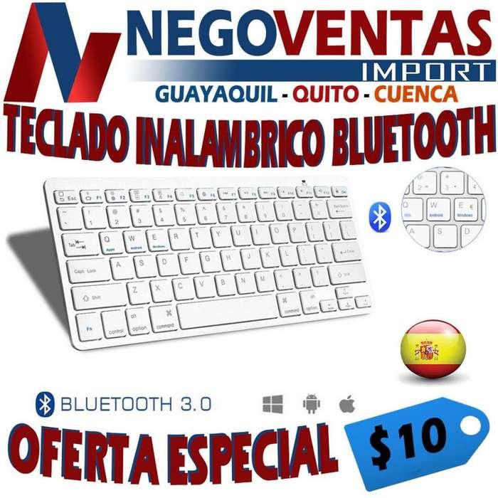 TECLADO INALÁMBRICO BLUETOOTH PARA COMPUTADORAS O LAPTOPS