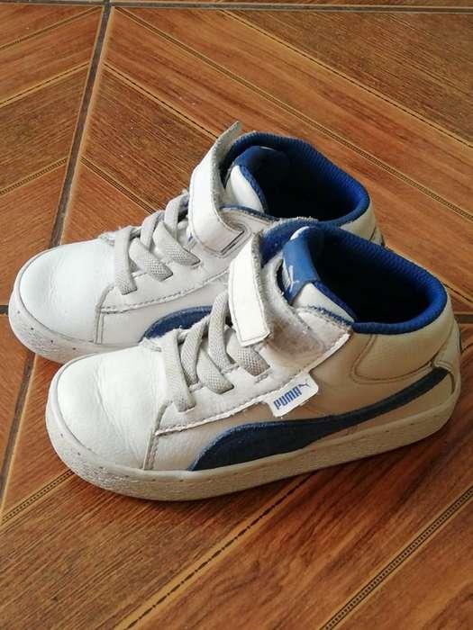 Zapatillas Blancas Marca Puma Talla:26
