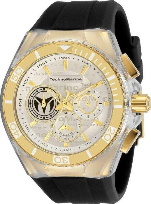 Reloj Hombre Technomarine Cruise Dorado Dial Blanco 118128