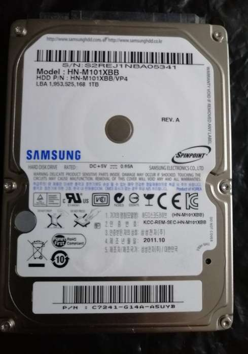 Disco Duro Samsung 1 Tera