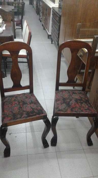 Juego de 5 sillas estilo chippendale