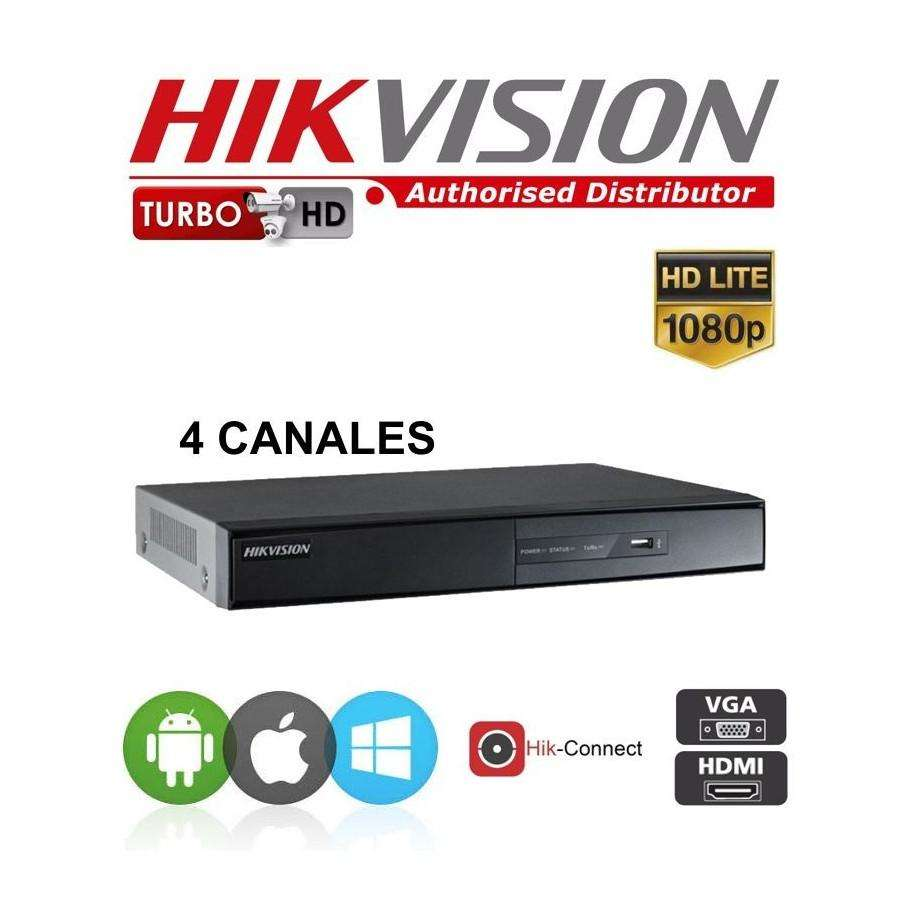 DVR HIKVISION DS-7204 HGHI F1 TURBO HD 4 CAMARAS 1 AUDIO HDMI VGA