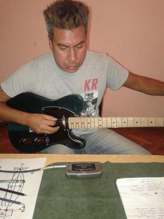 Clase de guitarra electrica a Domicilio