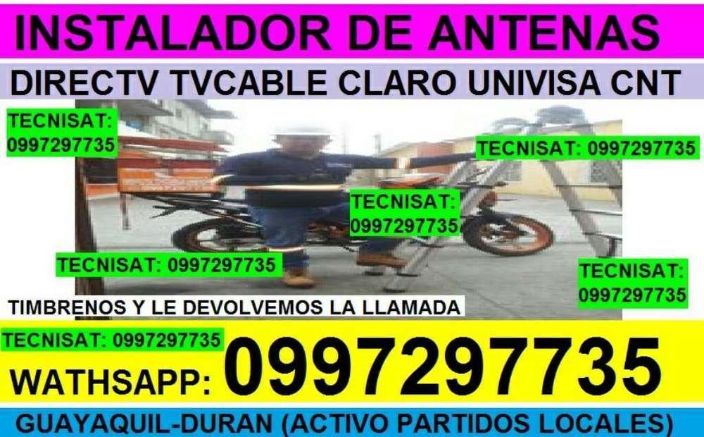 SERVICIO PROFESIONAL EN INSTALACION DIRECTV TVCABLE Y ANTENAS CNT..