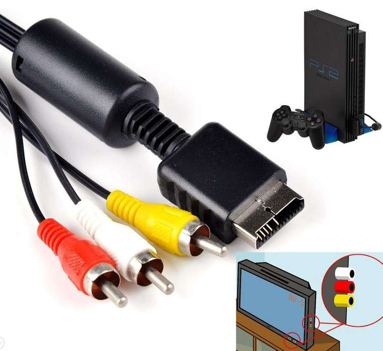 Cable Playstation 1 2 3 Ps2 A Rca Tv Audio Video 1.5 Metros