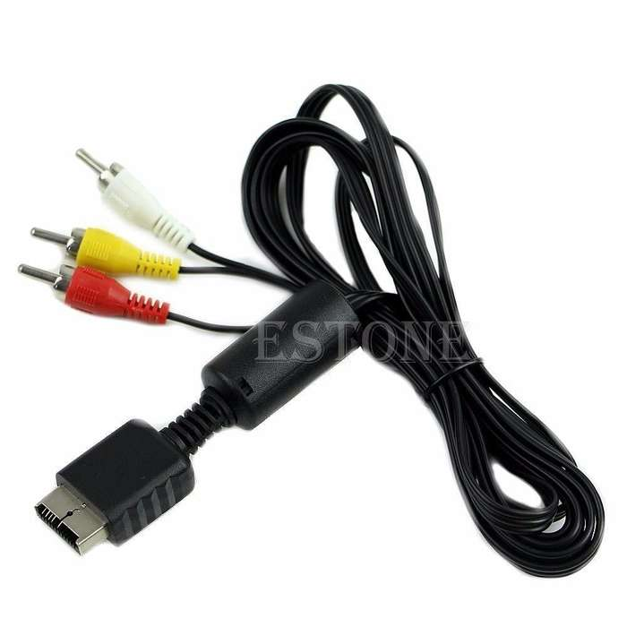 Cable Play Audio Video Av A 3 Rca Sony Ps2 Ps3 Consola Juego