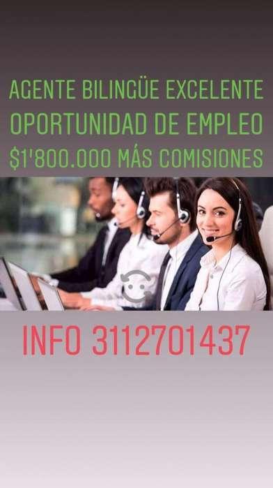 Agente Bilingue para Call Center