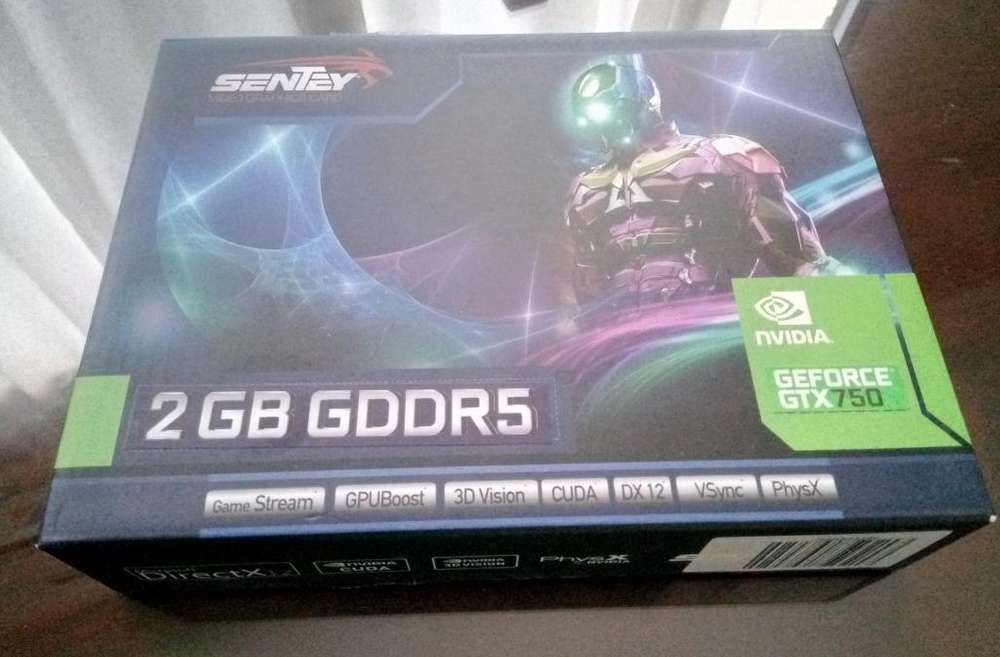 PLACA DE VIDEO GTX 750 2GB DDR5 128BITS NUEVA!!!