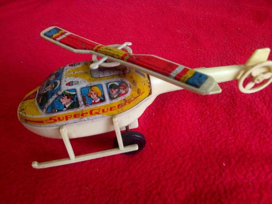retro juguete helicoptero super queen k