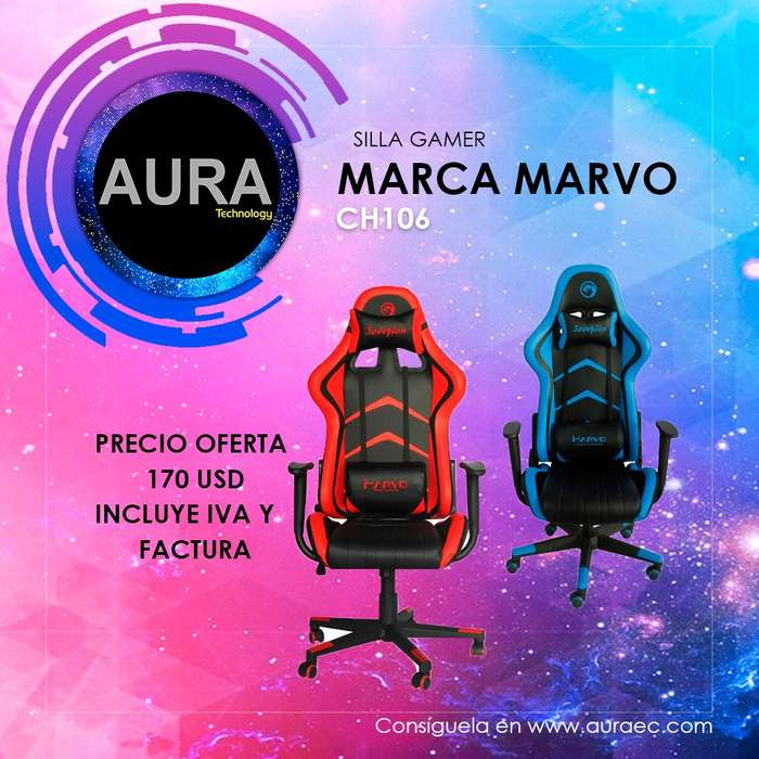 Silla Gamer Reclinable Marca Marvo CH106