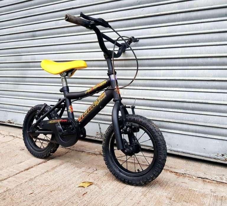 Bicicleta Niño Niña Halley Rodado 12 Negra Mate Buen Estado