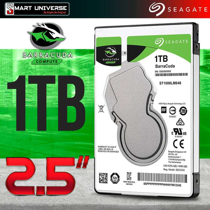 Disco Duro Seagate 1TB Sata 3 2.5'' Laptop 5400rpm 7mm 128MB Caché