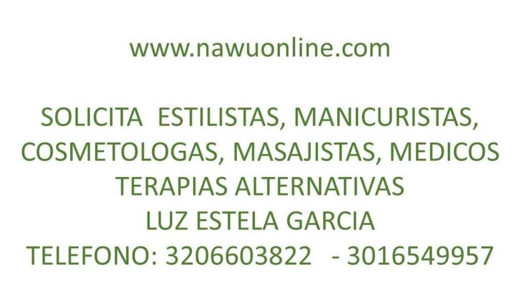 SOLICITO PELUQUERAS, MANICURISTAS, MASAJISTAS, COSMETOLOGAS