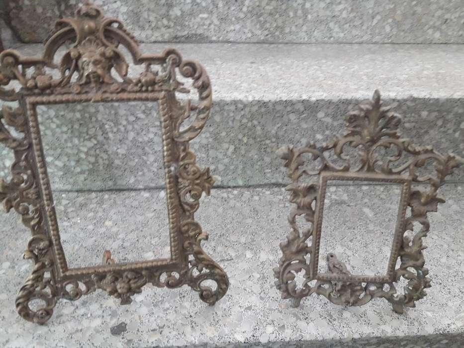 Portaretratos Antiguos de Bronce Puro