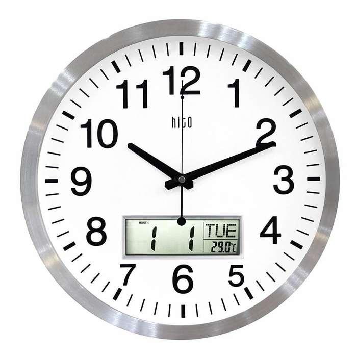 e3149ec9f27d Reloj Pared Decoración Fecha Temperatura pantalla Lcd Envío Gratis