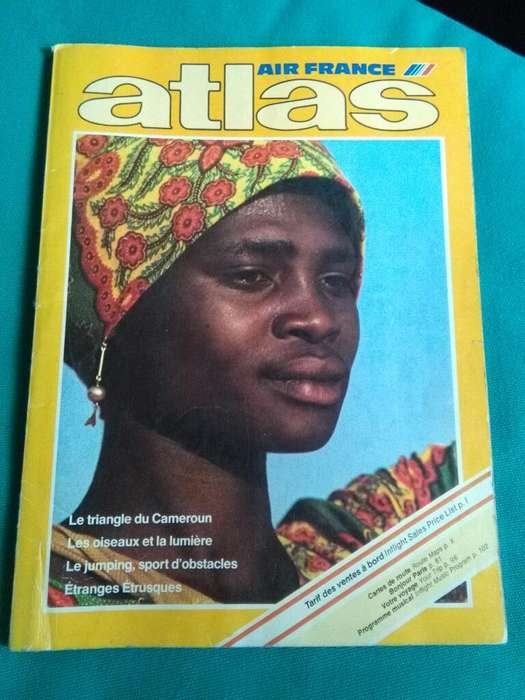 Atlas Air France 1980 Rutas Aereas Avion revista en frances
