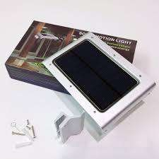 Lampara 36 Led panel solar fotocelda sensor movimiento 8hora