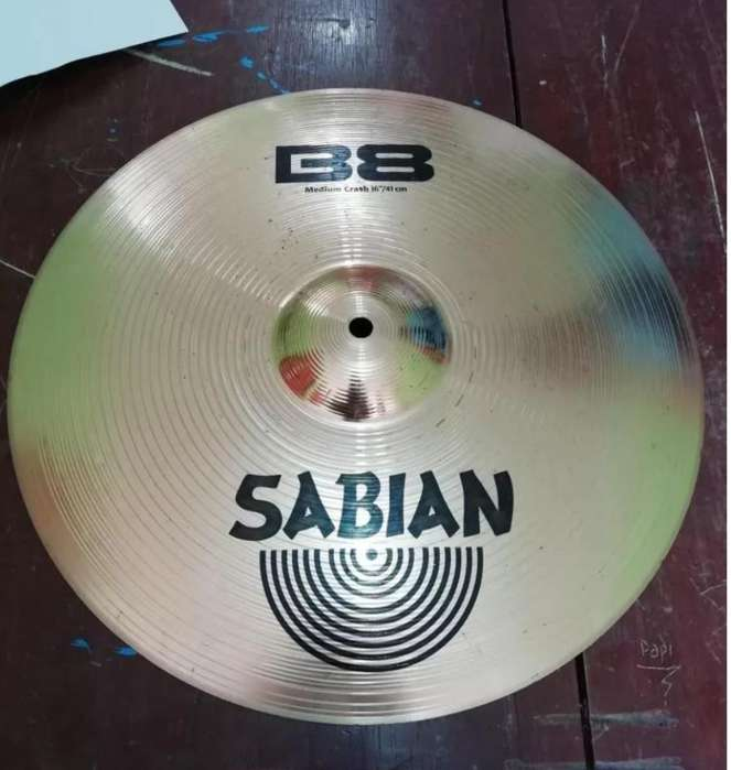 Platillo Sabian B8 Medium Crash 16