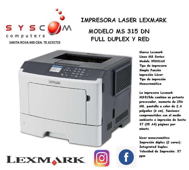 impresora laser lexmark