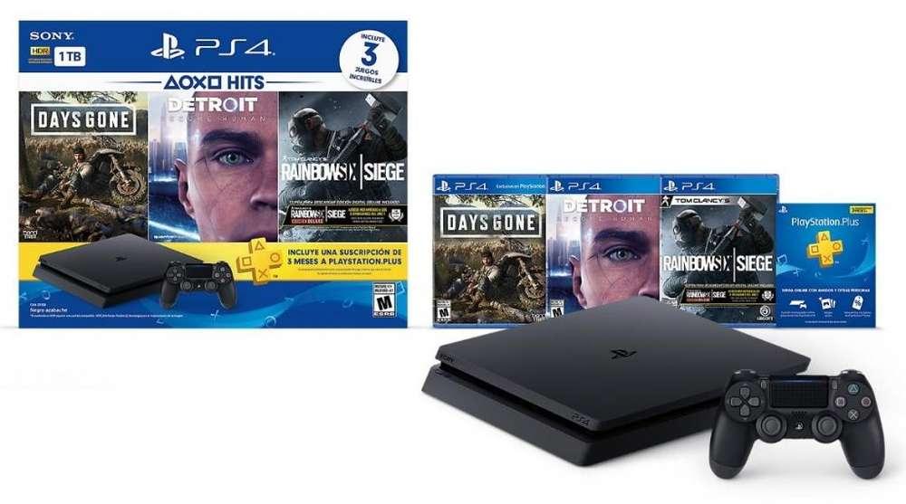 Playstation 4 Slim 1Tb 3 juegos Playstation PLus Oferta