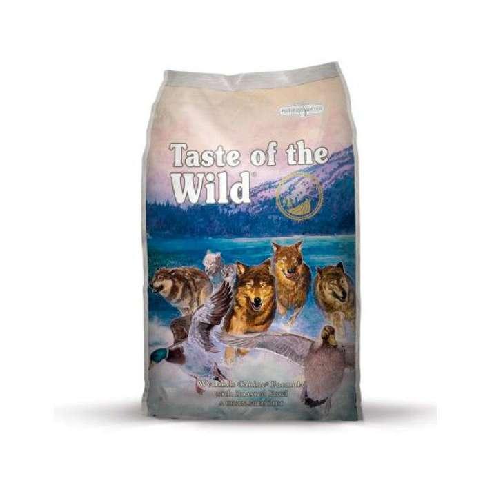 Taste of the Wild Wetlands Canine Pato, Codorniz Asada y Pavo Ahumado