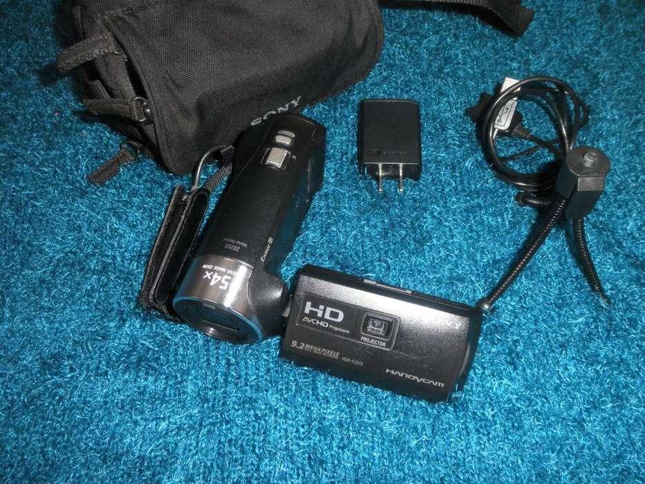 FILMADORA SONY HANDYCAM HDR-PJ270 FULL HD CON 9.2MP ZOOM 54X Y PROJECTOR