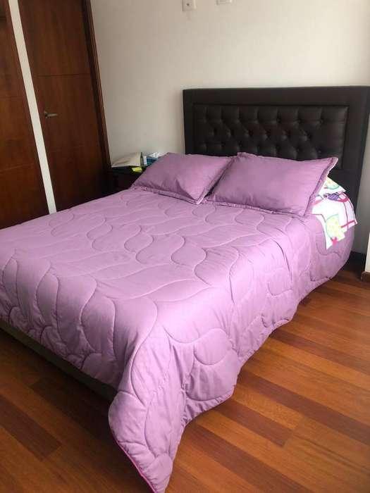 Base cama con cabecero y colchón ortopédico