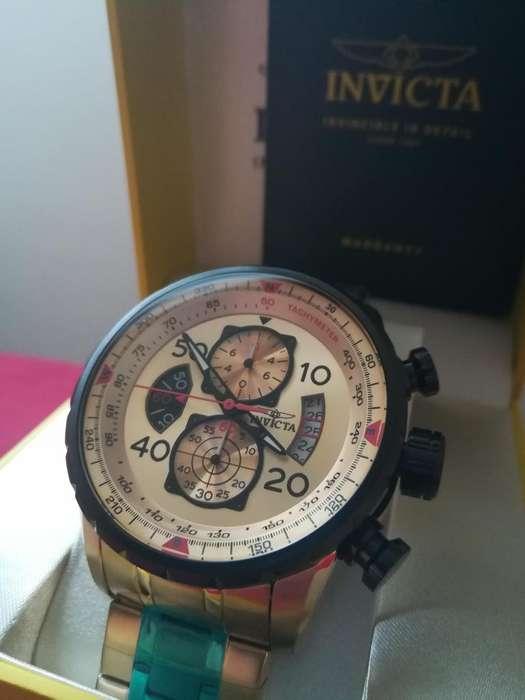 Reloj Invicta Aviator dorado, chapado oro, lujo. Relojes hombre Diesel Fossil