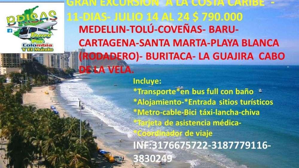 Gran excursión Costa Caribe y Guajira Julio 14 al 24/2019