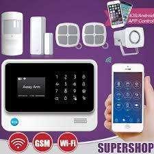 Kit de Alarma Wifi Gsm Grps para Casas