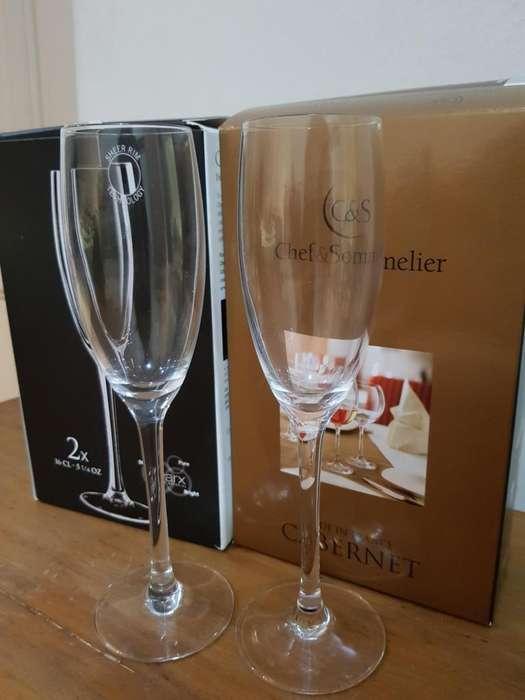 Copas de Champagne Chef & Sommelier 16 Cl Cristal Kwarx