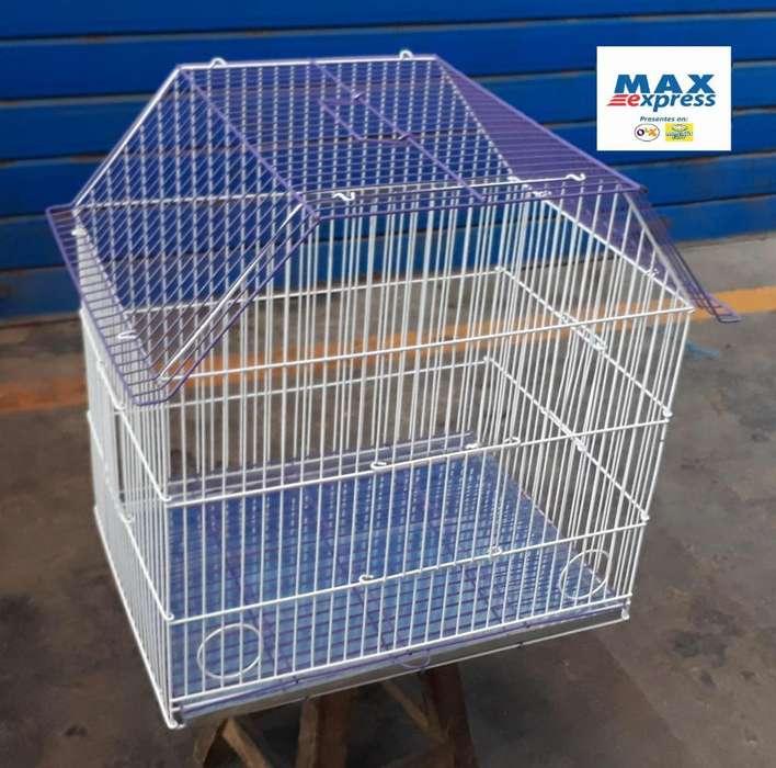 Jaula Mediana para Aves Canario Perico Agapornis Envios