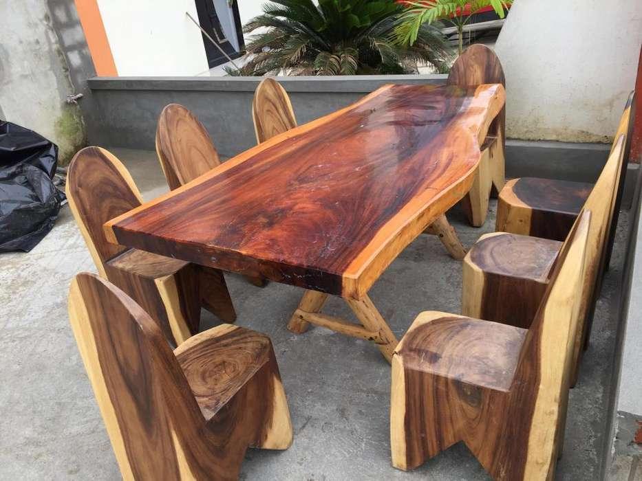 Muebles ,Juego de <strong>comedor</strong> rustico para 8 personas