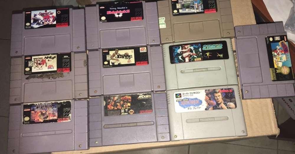 Pack 10 Juegos Super Nintendo Snes