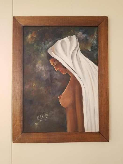 Cuadro retrato mujer