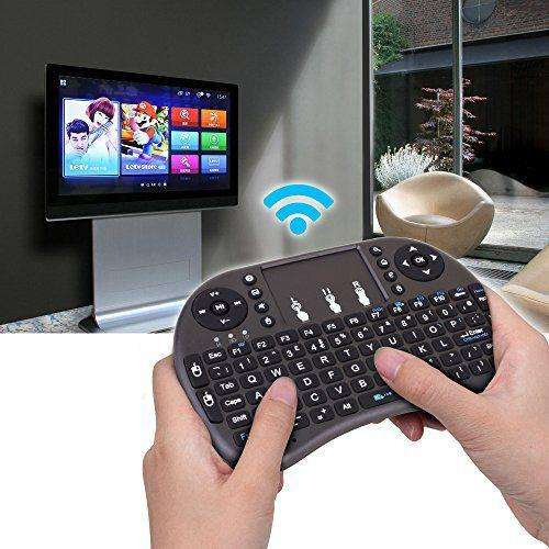 TECLADO CONTROL REMOTO PARA SMART TV INALÁMBRICO MOUSE TECHNOZONE2.0
