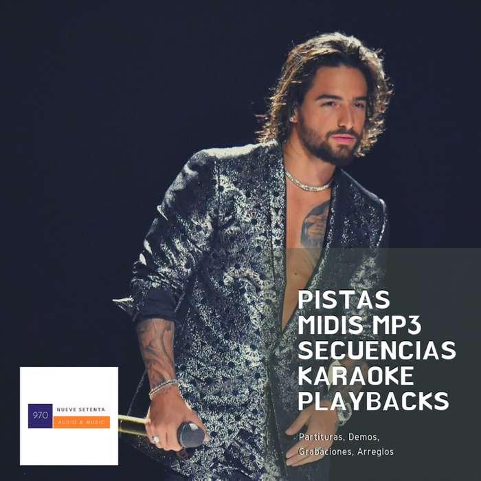 PISTAS / MIDIS / MP3 / Secuencias para cantantes y bandas