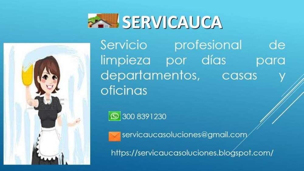 Servicio de Aseo y Limpieza por horas para empresas, hogares y departamentos