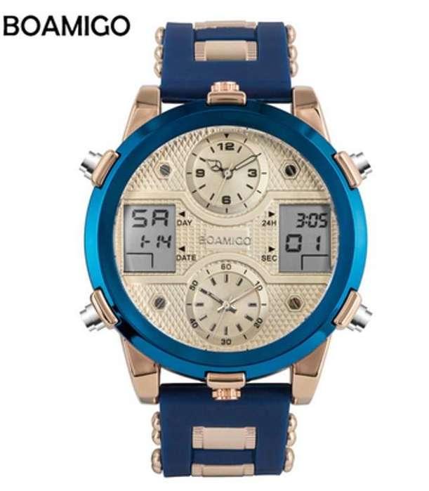 Reloj de hombre Analogo Digital con luz y 3 zonas horarias Edicion limitada