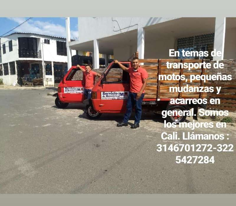 servicio de motocarro JM transporte de motos y acarreos en general.