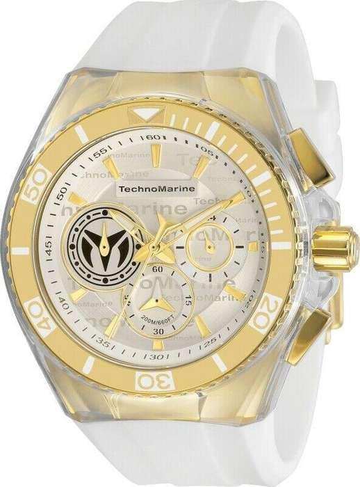 Reloj Hombre Technomarine Cruise Dorado Dial Blanco 118124