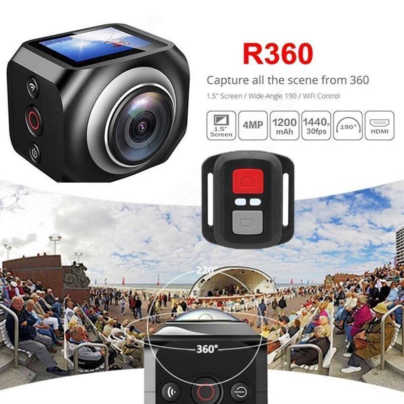 Envio Gratis Cámara De Video VR360 Sport Wifi Control Remoto y Accesorios