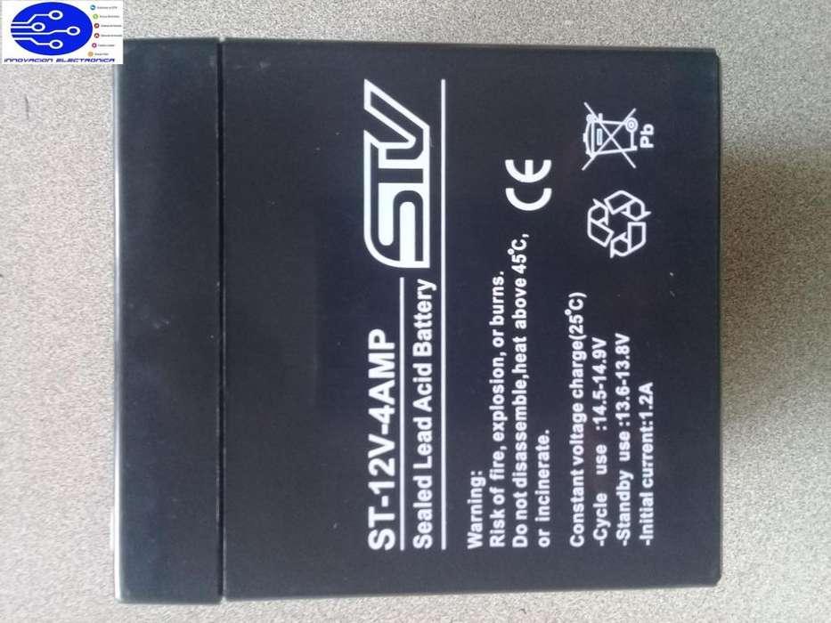 Batería 12V 4Ah Recargable Alarmas UPS Cercos