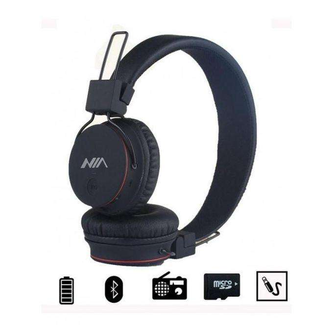 Audífono Bluetooth Nia fm, Micrófono, Micro Sd, Auxiliar